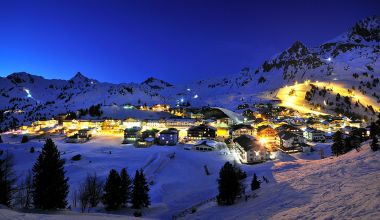 Night skiing in Obertauern