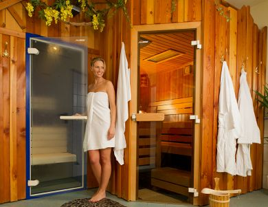Sauna at the hotel Auerhahn
